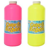 Запаска к мыльным пузырям 756, 1000мл, 2 цвета, в кор-ке