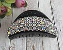 Краб для волос пластик с кристаллами 9*4,5 см, фото 2