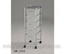 Тележка металлическая передвижная с ящиками для хранения SR-1543