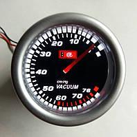 Разрежение во впускном коллекторе (эконометр) стрелочный Ket Gauge 7706-2 LED диодный Ø52мм прибор