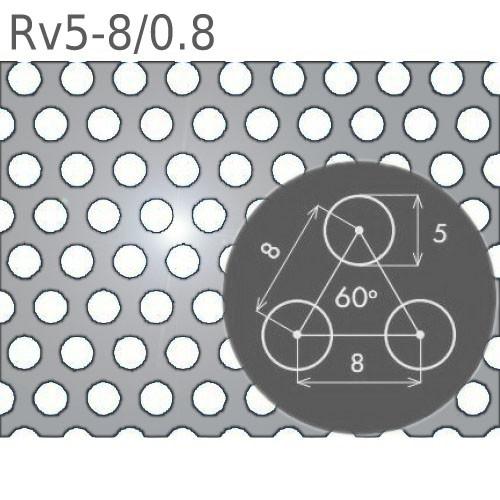 Перфорированный лист Rv5-8/0.8/1000 x 2000