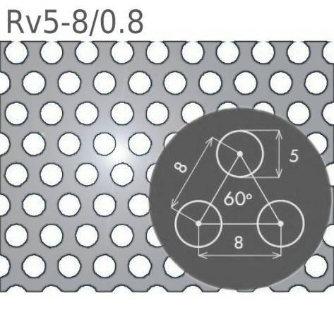 Перфорированный лист Rv5-8/0.8/1000 x 2000, фото 2