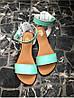 Женские сандалии из натуральной кожи голубого цвета SIMPLE MINT LEATHER, фото 3