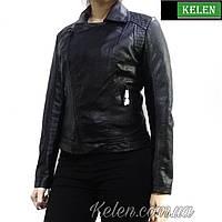 Кожзам куртка черная короткая