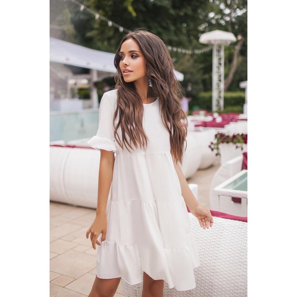 f21223739d68578 Женское летнее платье с воланами Волга 5093 - Интернет-магазин