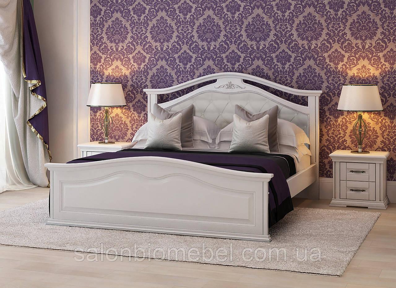Кровать двуспальная Маргарита 1,6 белая