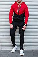 Мужской спортивный костюм Nike  чёрно-красный