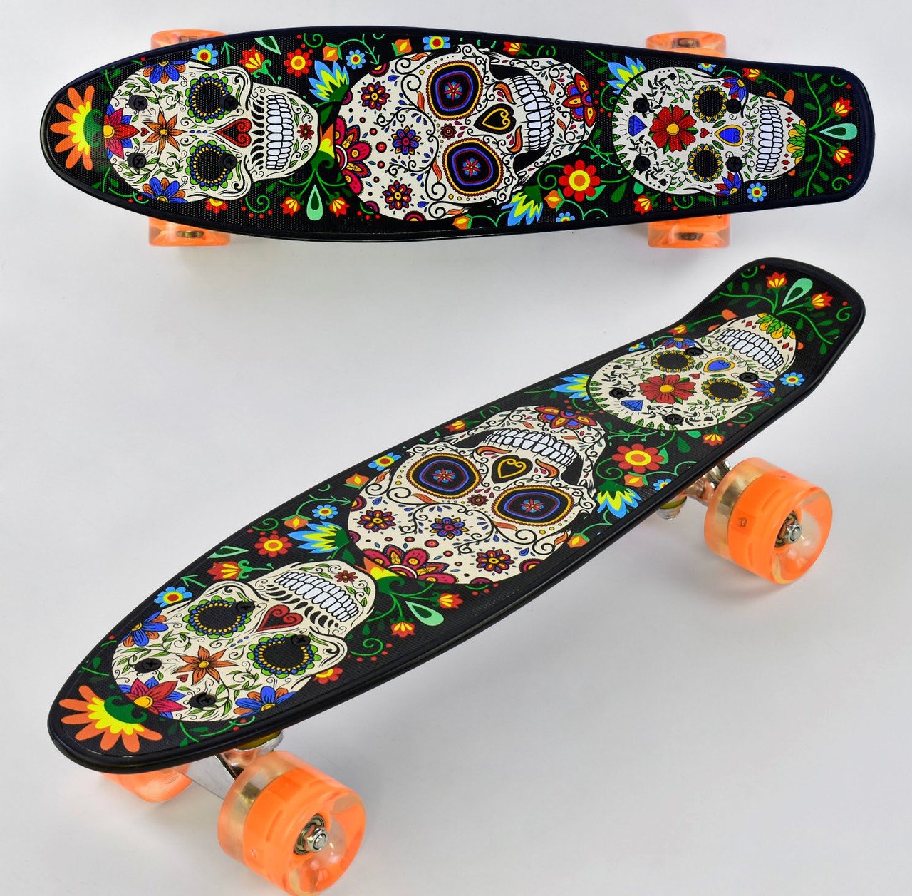 Скейт Penny Board.Скейтборд Best Board.Пенни борд светящийся