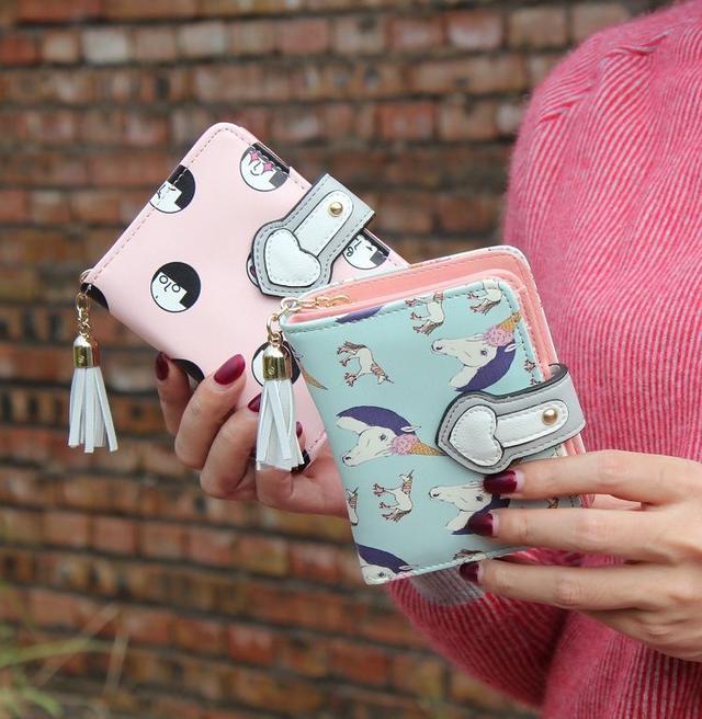 Жіночий гаманець з принтом