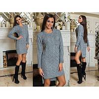 Вязаное платье женское Коса 4105 Турция