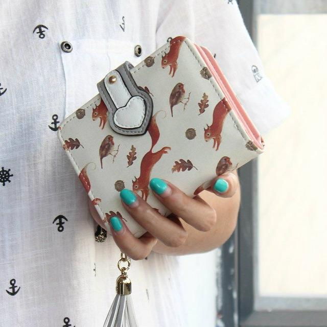 Жіночий гаманець Білки
