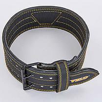 Пояс для пауэрлифтинга кожаный VELO VL-8184 , фото 2