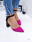 Очень красивые босоножки на устойчивом каблуке, искусственная замша  41 ПОСЛЕДНИЙ РАЗМЕР, фото 3