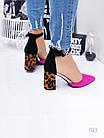 Очень красивые босоножки на устойчивом каблуке, искусственная замша  41 ПОСЛЕДНИЙ РАЗМЕР, фото 4