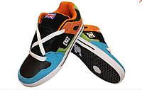 Кроссовки для хип-хопа (скейтера) Кожа DG (р-р 40-45) (верх-кожа, подошва-TPU, синий-черный)