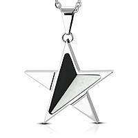 Кулон двухцветная звезда 316 Steel, фото 1