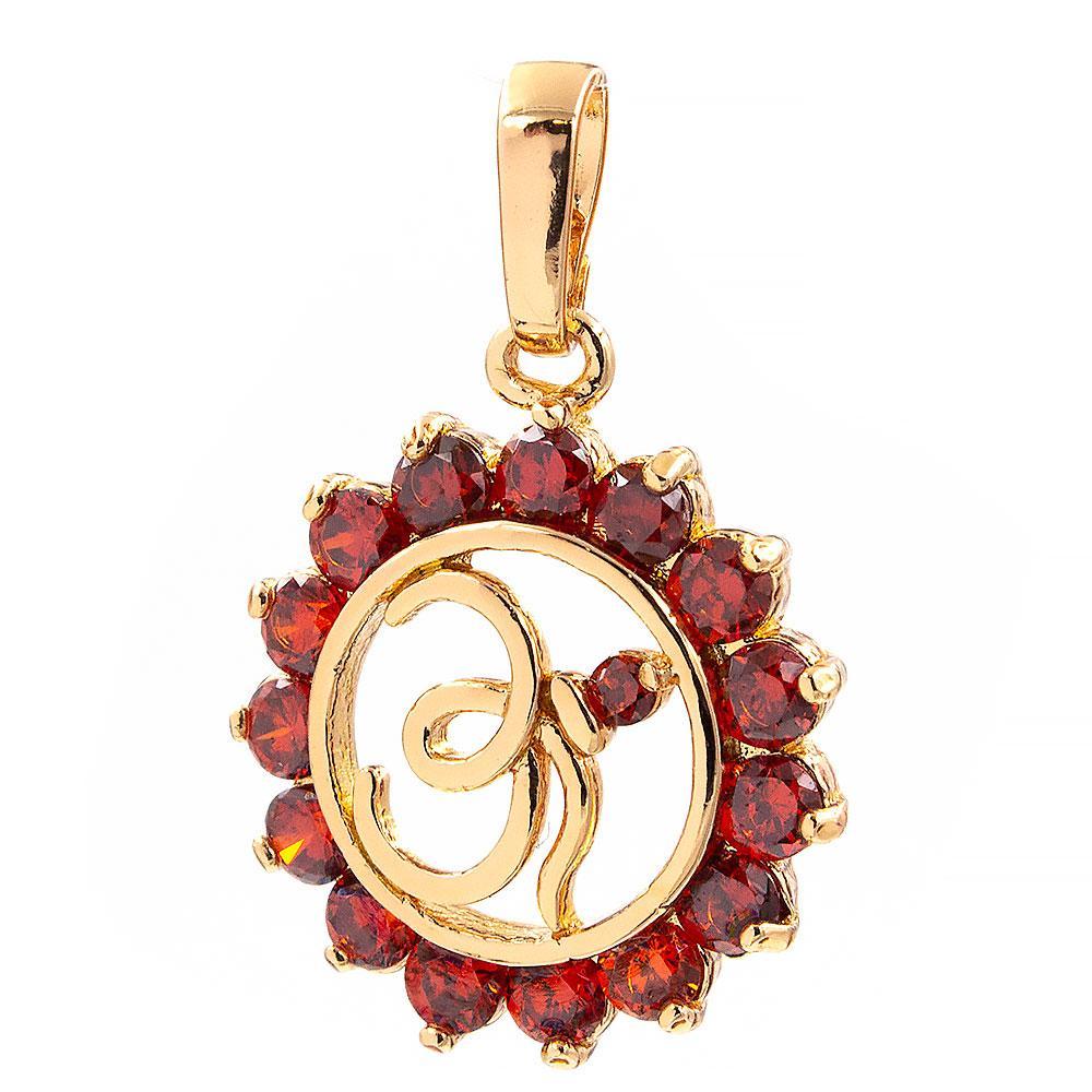 Подвеска Мусульманский символ лимонная позолота 2,2 см (Медицинское золото)