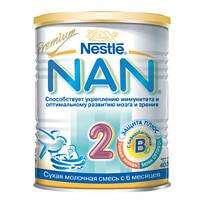НАН 2 молочная смесь, 400 г, nan premium nestle нестле