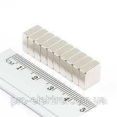 Неодимовый магнит квадрат 10х10х4 мм