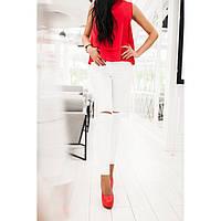 Джинсы женский с дырками на коленях 063 белые