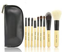 Набор кистей для макияжа Bobbi Brown 9 шт + чехол в  ПОДАРОК!!!реплика