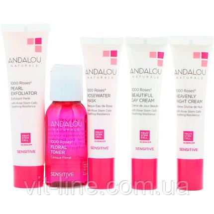 Andalou Naturals, Набор Get Started, 1000 роз, для чувствительной кожи, набор из 5 составляющих, фото 2
