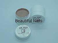 Гель-краска для ногтей UK.Nail №03 цвет бежевый.7 грамм