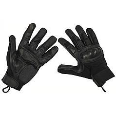Тактические перчатки с защитой пальцев, черные 15833A