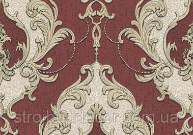 Обои виниловые на бумажной основе с красивым орнаментом 0,53*10,05 Измир