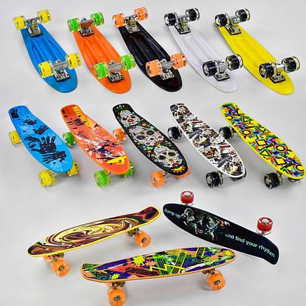 Скейт Penny Board.Скейтборд Best Board.Пенни борд светящийся, фото 2