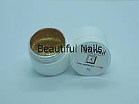 Гель-краска для ногтей UK.Nail №05 цвет золото,7 грамм