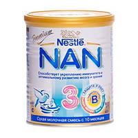 НАН 3 молочная смесь, 400 г, nan premium nestle нестле