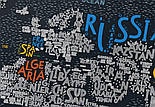 Скретч карта мира Travel Map LETTERS World ENG 80*60 см, фото 4