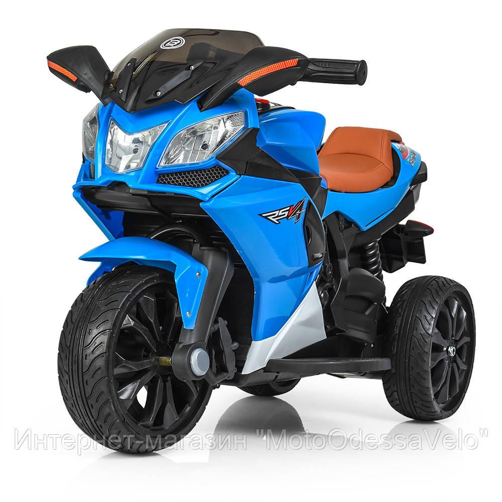 Детский электромотоцикл BAMBI синий