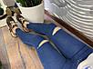 Стильные женские синие джинсы с порезами и рваными краями, фото 3