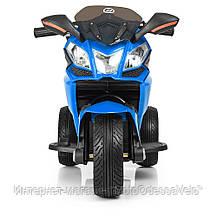 Детский электромотоцикл BAMBI синий, фото 3