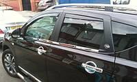 Хромированныемолдинги на стекла для Nissan Qashqai, Ниссан Кашкай