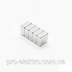 Неодимовый магнит квадрат 10х10х5 мм