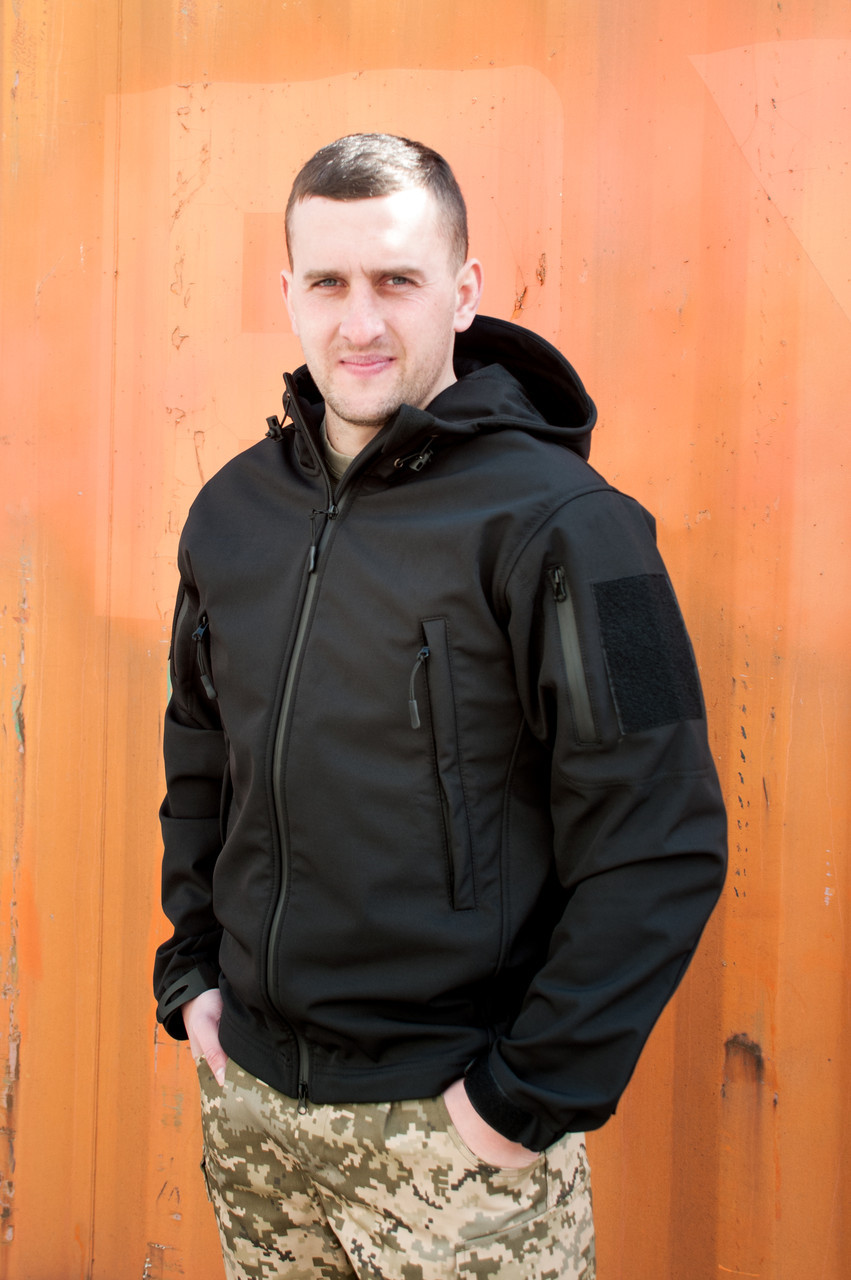 Куртка SOFT SHELL Military Черная