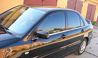 Хромированныемолдинги на стекла для MitsubishiLancer 9, Митсубиси Лансер 9