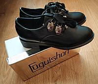 Стильные  дерби,туфли,броги черного цвета 36(23см),ЧИТАЙТЕ ОПИСАНИЕ ТОВАРА!!!, фото 1