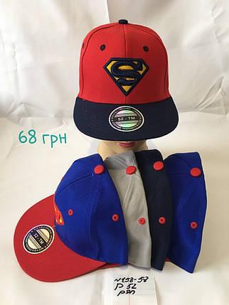 Рэперка для мальчика Superman,р.52,коттон, фото 2