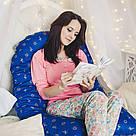 Подушка для беременных и кормящих мам, подкова, у-образная, сна, живота, младенцев, кормления, Вигвам, фото 10