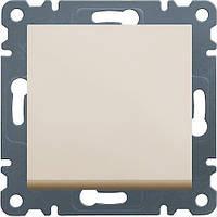 Выключатель перекресный 1-клавишный (крем) Hager Lumina-2 (крестовой)
