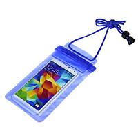 Водонепроникна сумка для телефону і документів Marble синя