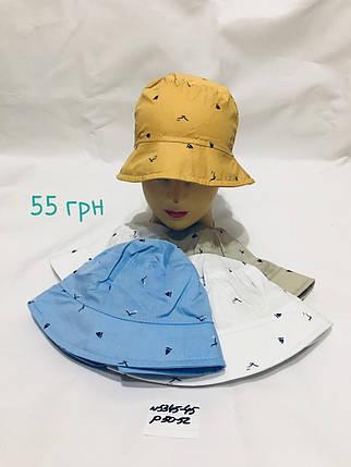 Панамка для мальчика однотонная,р.50-52,коттон, фото 2