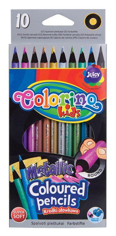 "Карандаши цветные ""Metallic"" 10 цветов, Colorino"