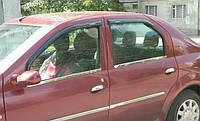 Хромированныемолдинги на стекла для Renault Dacia Logan, Рено Дачиа Логан