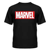 Футболка черная Marvel logo | топ