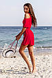 Короткая пляжная шифоновая туника с сумкой в комплекте, фото 2